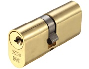 Zoo Hardware Vier Precision Oval Profile 5 Pin Double Cylinders (60mm, 70mm OR 80mm), Polished Brass - V5OP60DPBE