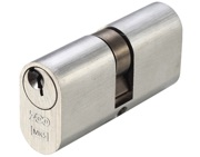 Zoo Hardware Vier Precision Oval Profile 5 Pin Double Cylinders (60mm, 70mm OR 80mm), Satin Chrome - V5OP60DSCE