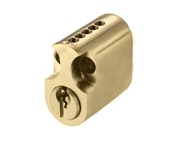 Zoo Hardware Vier Precision 31mm Scandinavian Oval Cylinder (Inner), Polished Brass - V5OPSOI31PBE