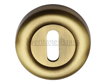 Heritage Brass 'Standard' Key Escutcheon, Antique Brass - V6722-AT