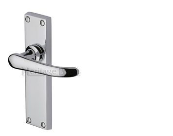 Heritage Brass Windsor Polished Chrome Door Handles - V700-PC (sold in pairs)