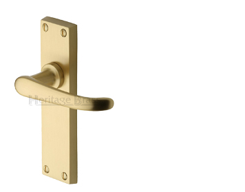 Heritage Brass 'Windsor' Satin Brass Door Handles - V700-SB (sold in pairs)