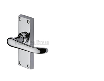 Heritage Brass Windsor Short Polished Chrome Door Handles - V710-PC (sold in pairs)