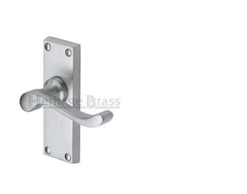 Heritage Brass Bedford Satin Chrome Door Handles - V800-SC (sold in pairs)