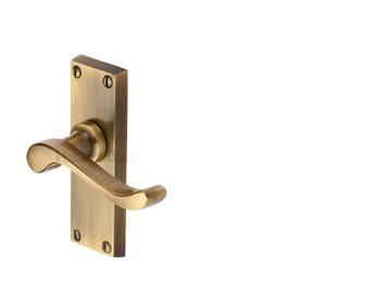 Heritage Brass 'Bedford Short' Antique Brass Door Handles - V800-AT (sold in pairs)