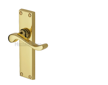 Heritage Brass Bedford Polished Brass Door Handles - V810-PB (sold in pairs)