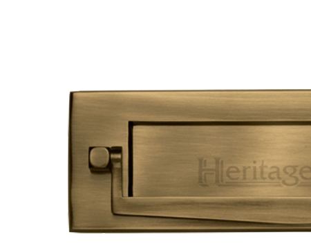 Heritage Brass Postal Knocker Letter Plate (254mm x 79mm) Antique Brass - V830  sc 1 st  Door Handle Company & Letter Plates from Door Handle Company