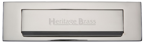 Polished Chrome Victorian Style Letter Plate Flap BC04B