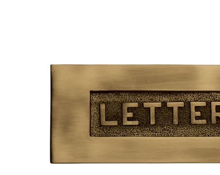 Heritage Brass 'Letters' Embossed Letter Plate (254mm x 101mm), Antique Brass - V845-AT