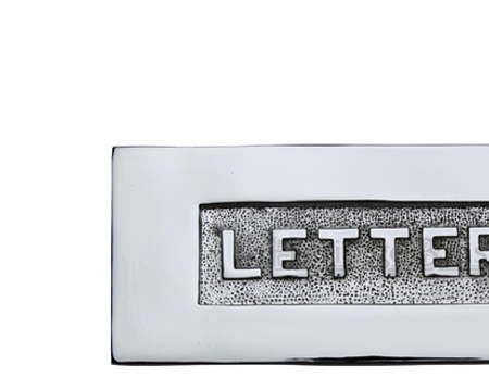 Heritage Brass 'Letters' Embossed Letter Plate (254mm x 101mm), Polished Chrome - V845-PC