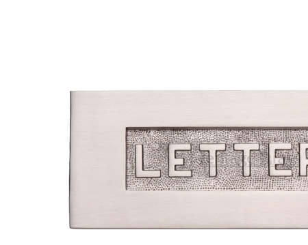 Heritage Brass 'Letters' Embossed Letter Plate (254mm x 101mm), Satin Nickel - V845-SN
