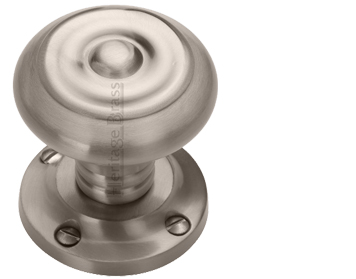 Heritage Brass 'Aylesbury' Mortice Door Knob, Satin Nickel - V872-SN (sold in pairs)