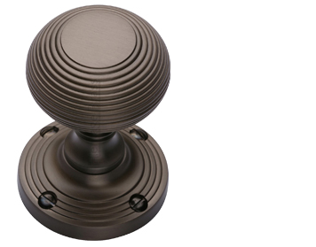 Heritage Brass 'Reeded' Mortice Door Knob, Matt Bronze - V971-MB (sold in pairs)