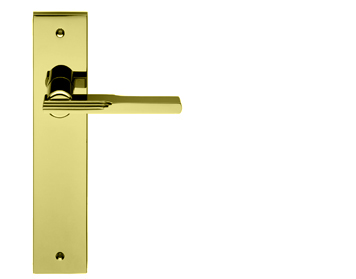 Carlisle Brass Manital Veronica Art Deco Style Door Handles, Polished Brass - VE2RPB (sold in pairs)