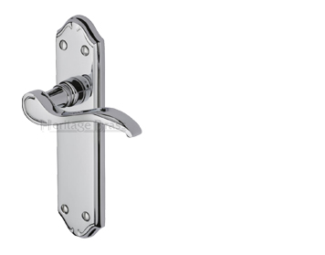Heritage Brass Verona Polished Chrome Door Handles - MM624-PC (sold in pairs)