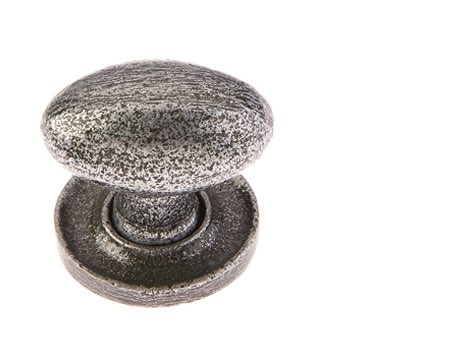 Jedo Collection Valley Forge Oval Cabinet Knob (27mm x 36mm), Pewter Patina - VF45
