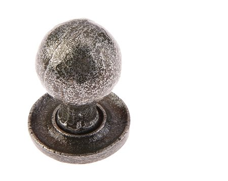 Jedo Collection Valley Forge Round Cabinet Knob (27mm x 39mm), Pewter Patina - VF47