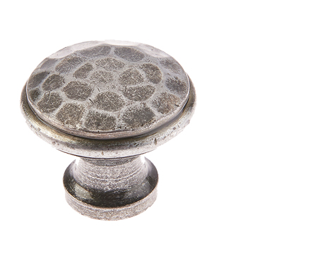 Jedo Collection Valley Forge Hammered Cabinet Knob (20mm, 30mm OR 40mm), Pewter Patina - VF85