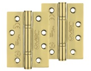 Zoo Hardware Vier Precision 4 Inch Grade 14 High Performance Hinge, PVD Stainless Brass - VHP243PVD (sold in pairs)