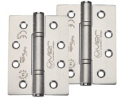Zoo Hardware Vier Precision 4 Inch Grade 14 High Performance Hinge, Satin Stainless Steel - VHP243S (sold in pairs)