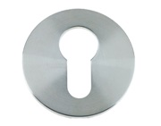 Zoo Hardware Vier Euro Profile Key Escutcheon, Satin Stainless Steel - VS001S