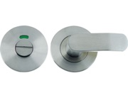 Zoo Hardware Vier Bathroom Turn & Release With Indicator, Satin Stainless Steel - VS004IS