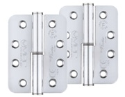Zoo Hardware Vier Precision 4 Inch Grade 11 Radius Edge Lift-Off Hinge, Polished Chrome - VSLH43CP (sold in pairs)