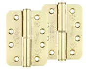 Zoo Hardware Vier Precision 4 Inch Grade 11 Radius Edge Lift-Off Hinge, Electro Brass - VSLH43EB (sold in pairs)
