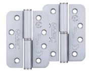 Zoo Hardware Vier Precision 4 Inch Grade 11 Radius Edge Lift-Off Hinge, Satin Chrome - VSLH43SC (sold in pairs)