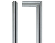 Zoo Hardware Vier Mitred Pull Handle (19mm OR 21mm Bar Diameter), Satin Stainless Steel - VSM425