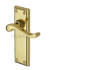 Heritage Brass Edwardian Polished Brass Door Handles - W3200-PB (sold in pairs)
