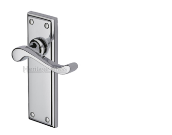 Heritage Brass Edwardian Polished Chrome Door Handles - W3200-PC (sold in pairs)