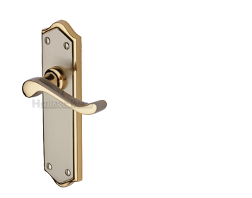 Heritage Brass 'Buckingham' Jupiter Finish Satin Nickel With Gold Edge Handles - W4200-JP (sold in pairs)