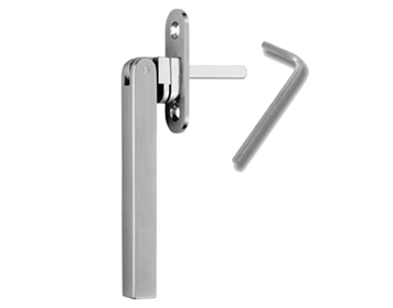 Carlisle Brass Stainless Steel Square Bar Espagnolette (Multi-Point) Window Fastener, Satin Finish - WF35SS