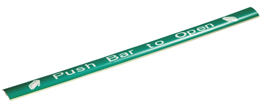 Eurospec Photo Luminescent 'Push Bar to Open' Sign, To Suit Touchbar - XIA5004 None