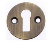 Prima Victorian Standard Profile Escutcheon, Antique Brass - XL104