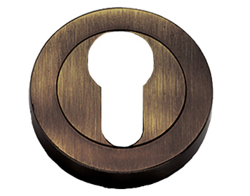 Prima 'Euro Profile' Escutcheon, Antique Brass - XL1405