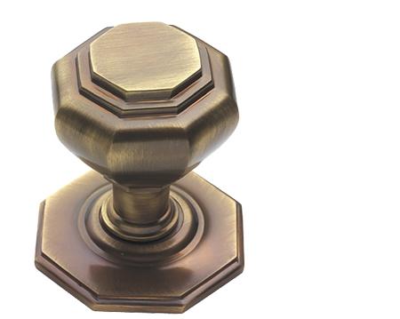 antique brass front door knobs. Prima \u0027Octagonal\u0027 Centre Door Knob, Antique Brass - XL15B Front Knobs
