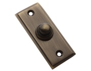 Prima Stepped Bell Push, Antique Brass - XL183