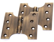 Prima Parliament Hinges (4, 5 OR 6 Inch), Antique Brass - XL234 (sold in pairs)