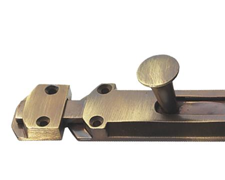 Prima Surface Door Bolt (114mm OR 159mm), Antique Brass - XL240 - Prima - Antique Door Bolts Antique Furniture