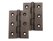 Prima 3 Inch Phosphor Bronze Double Washered Hinges, Bronze - XL528 (sold in pairs)
