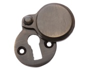 Prima Heavy Covered Standard Profile Escutcheon, Antique Brass - XL624