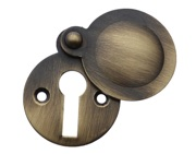 Prima Tudor Covered Standard Profile Escutcheon, Antique Brass - XL691