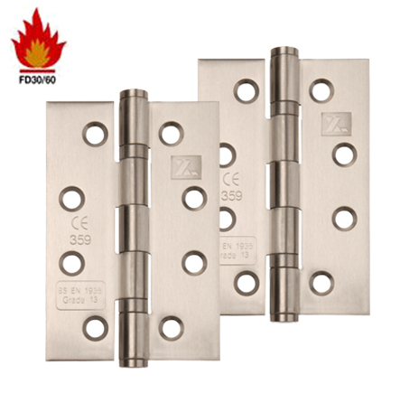 Fire rated hinges set of 3