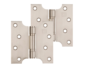 Excel Grade 201 Button Tip Washered Parliament Hinges (4 Inch) Multiple Finishes - XL974 (sold in pairs)