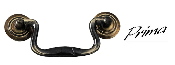 Swan Neck Pull Handle (95mm C/C), Antique Brass - XL998AB None
