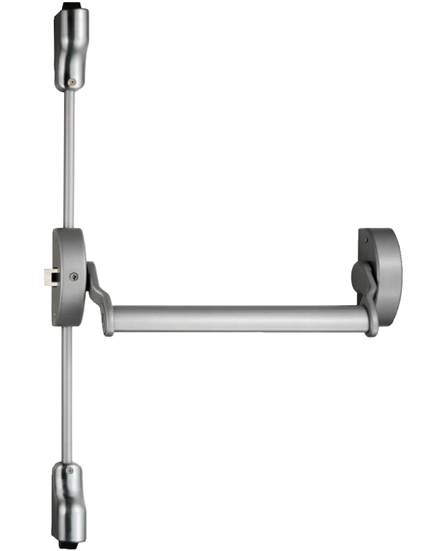 Eurospec Narrow Style Pushbar Panic Latch OR Vertical/Horizontal Panic Bolt, Silver Finish - XSL5760 None