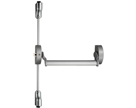 Eurospec Narrow Style Pushbar Panic Latch OR Vertical/Horizontal Panic Bolt, Silver Finish - XSL5760