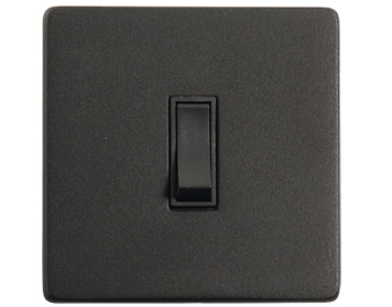 1 Gang Switch, Black Matt Finish, Black Inset Trim - YBK.500.BK